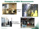 examples of nda measurements