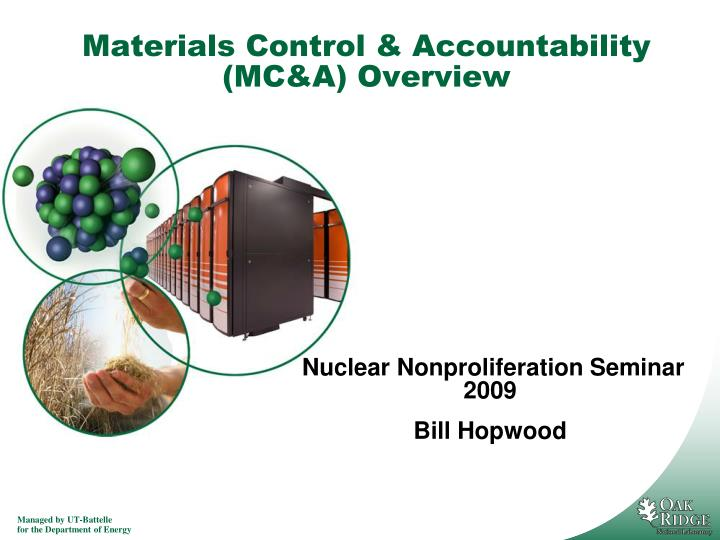 materials control accountability mc a overview