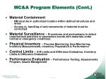 mc a program elements cont