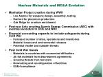 nuclear materials and mc a evolution