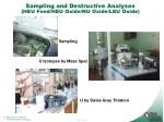 sampling and destructive analyses heu feed heu oxide nu oxide leu oxide
