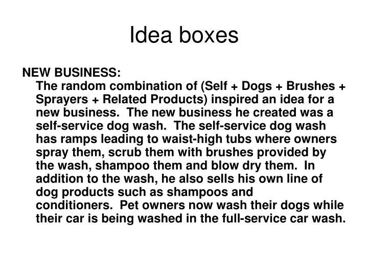 Idea boxes