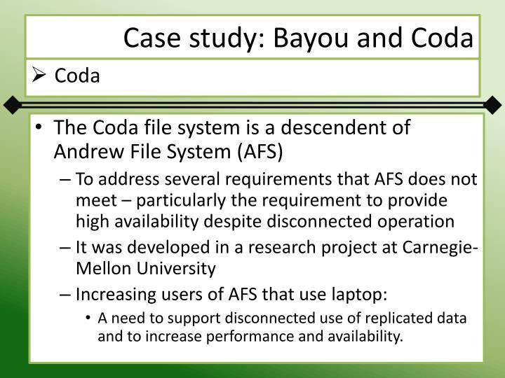 Case study: Bayou and Coda