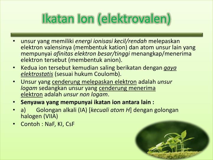 Ikatan ion elektrovalen