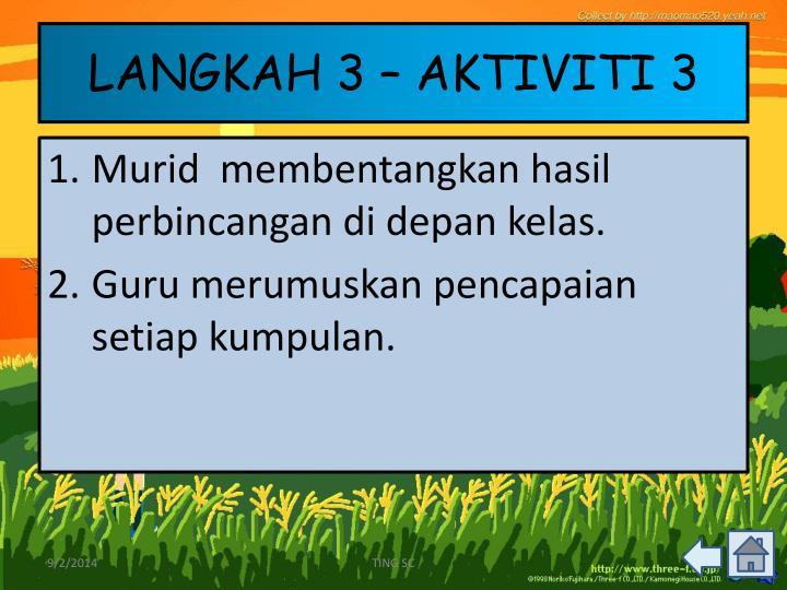 LANGKAH 3 – AKTIVITI 3