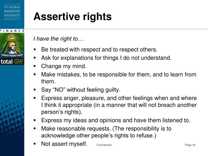 Assertive rights