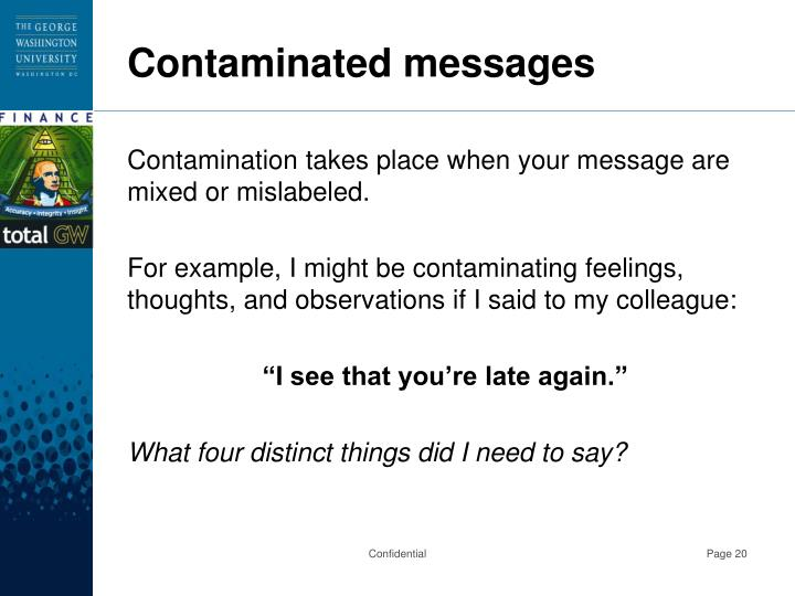 Contaminated messages