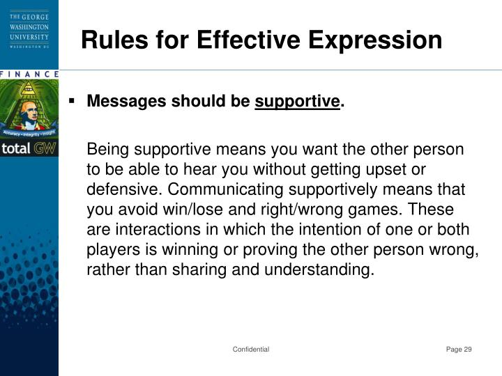 Rules for Effective Expression