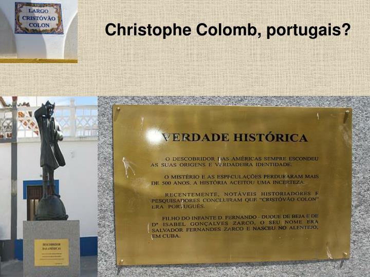 Christophe Colomb, portugais?
