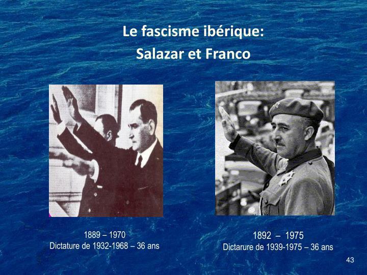 Le fascisme ibérique: