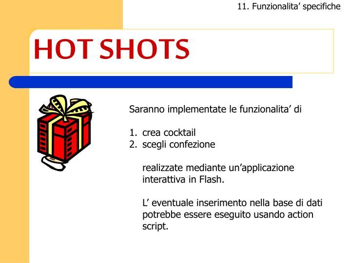 11. Funzionalita' specifiche