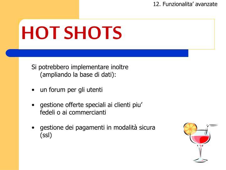 12. Funzionalita' avanzate