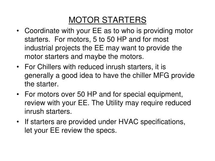 MOTOR STARTERS