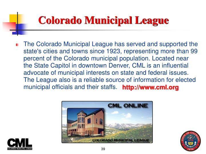 Colorado Municipal League