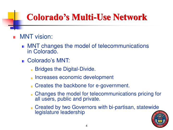 Colorado's Multi-Use Network