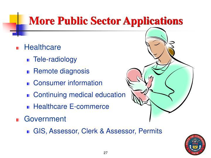 More Public Sector Applications