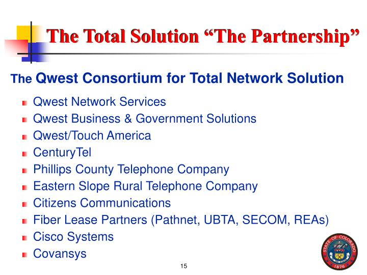 """The Total Solution """"The Partnership"""""""