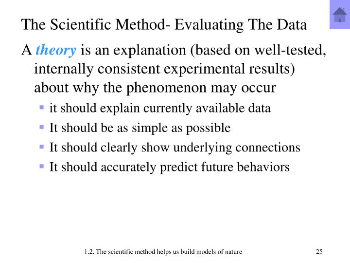 The Scientific Method- Evaluating The Data
