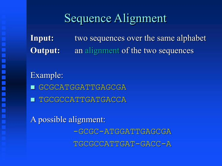 Sequence alignment1