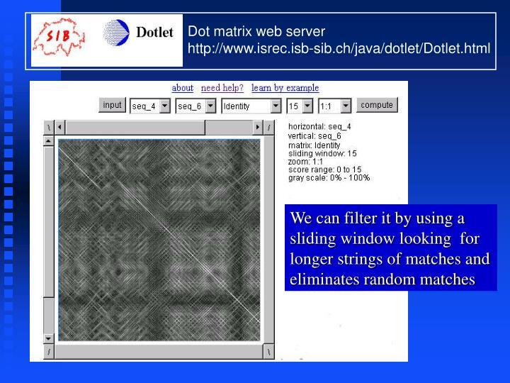 Dot matrix web server