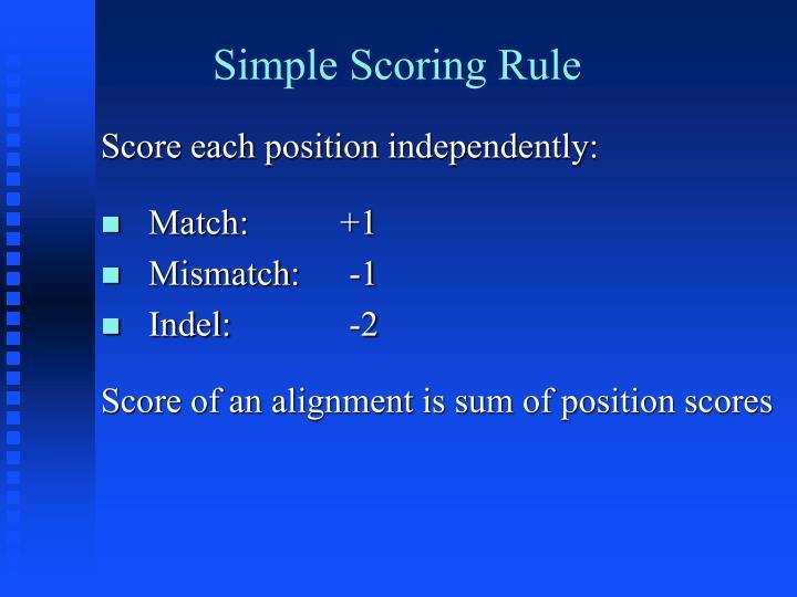 Simple Scoring Rule