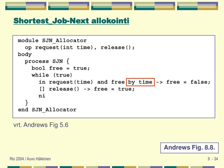 Shortest_Job-Next allokointi