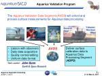 aquarius validation program