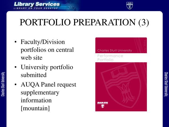 PORTFOLIO PREPARATION (3)
