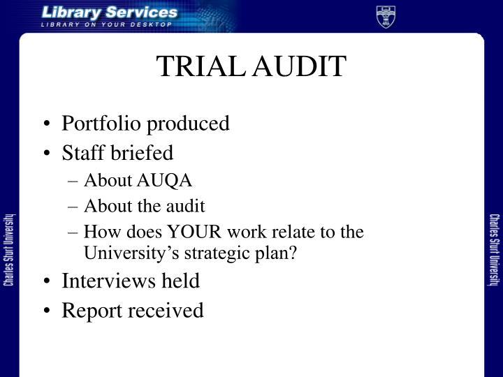 Trial audit