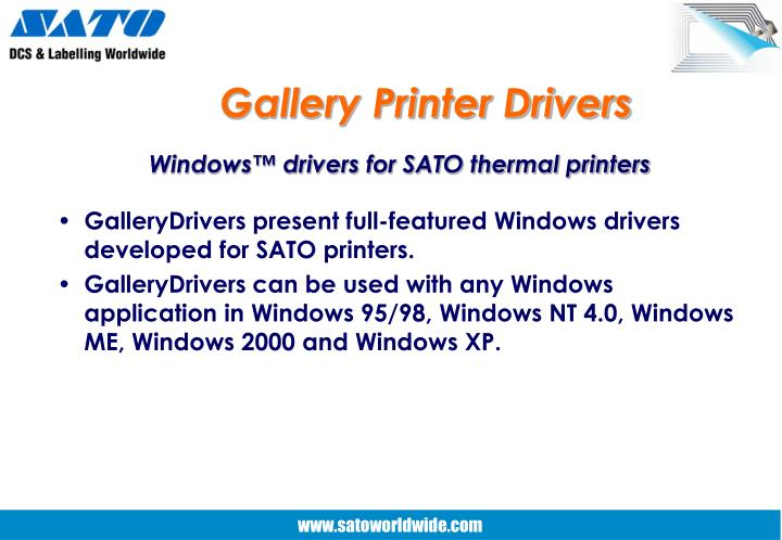 Gallery Printer Drivers