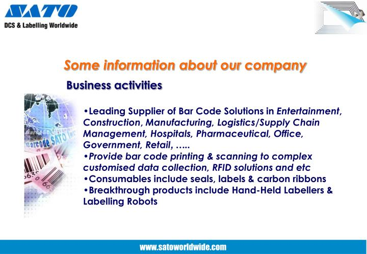 Some information about our company