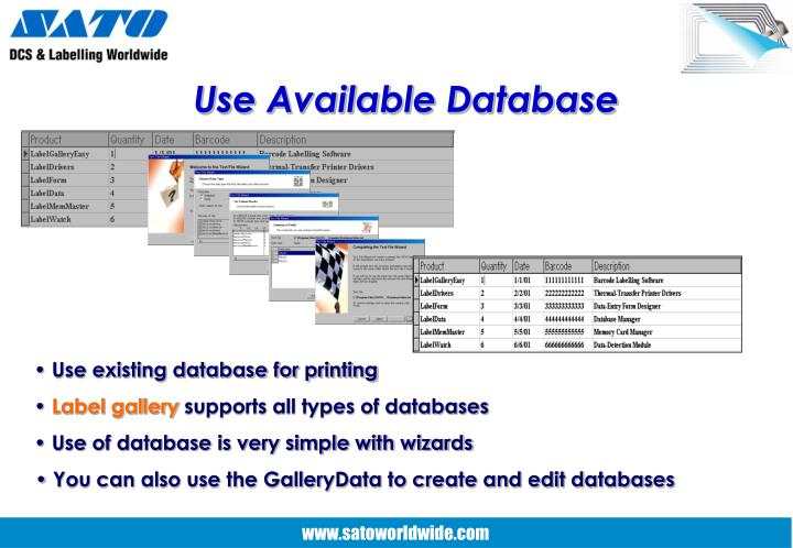 Use Available Database