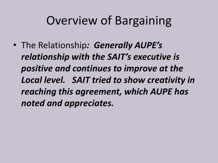 Overview of Bargaining