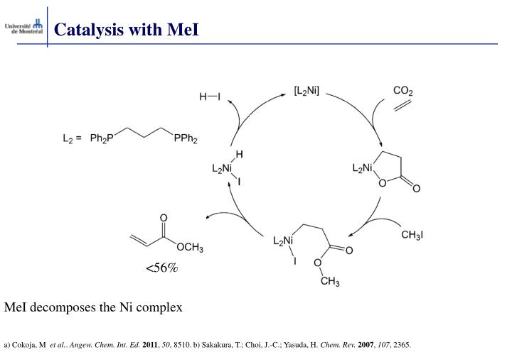 Catalysis with MeI