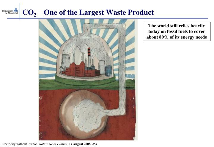 Co 2 one of the largest waste product
