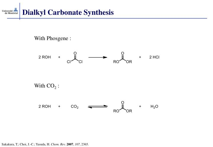 Dialkyl Carbonate Synthesis