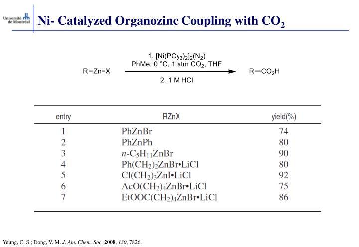 Ni- Catalyzed Organozinc Coupling with CO