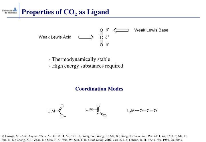 Properties of CO