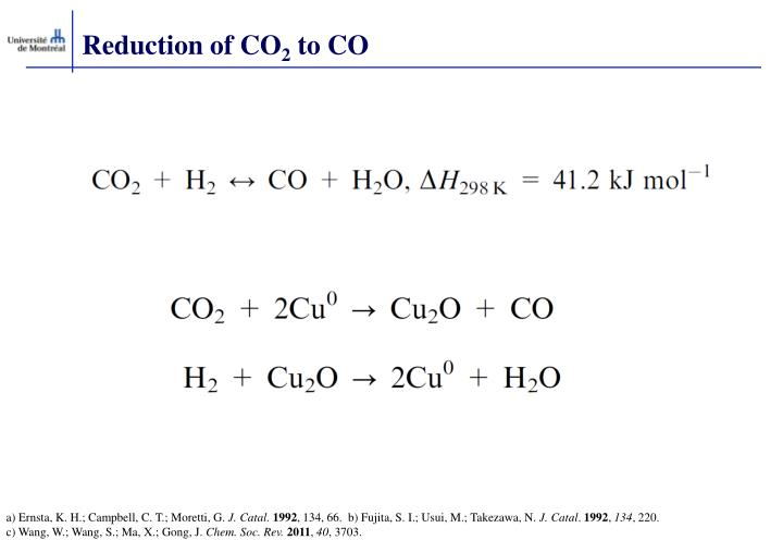 Reduction of CO