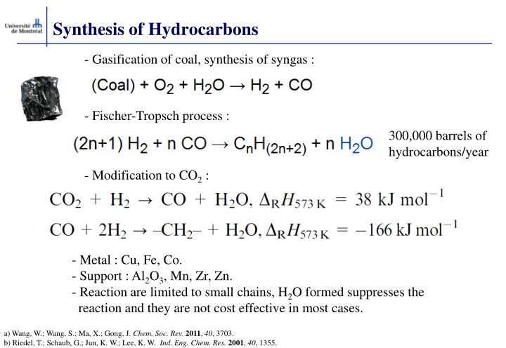 Synthesis of Hydrocarbons