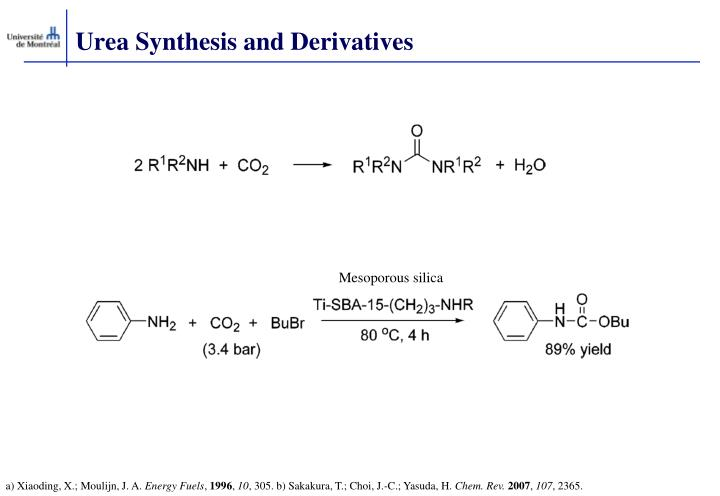 Urea Synthesis and Derivatives
