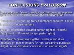conclusions evaldsson