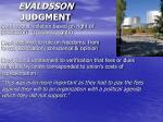 evaldsson judgment