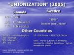 unionization 2005
