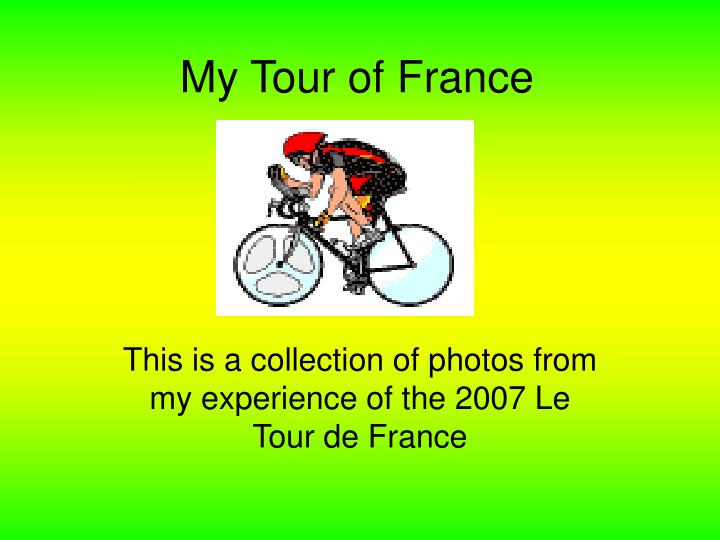 my tour of france n.
