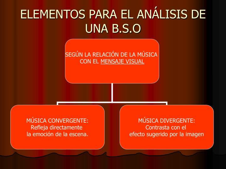 ELEMENTOS PARA EL ANÁLISIS DE UNA B.S.O