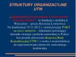 struktury organizacyjne utw
