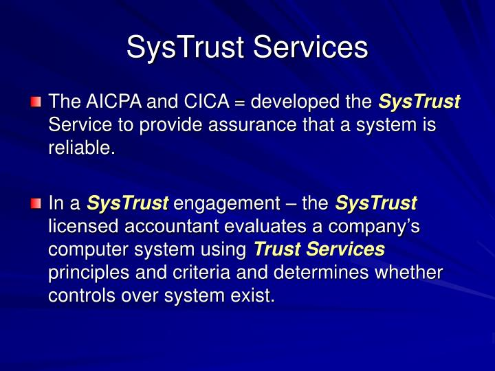 SysTrust Services