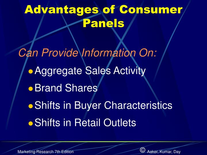 Advantages of Consumer Panels