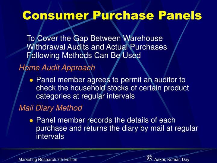 Consumer Purchase Panels